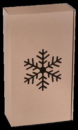 Pudełko prezentowe EKO Kraft 8 36x20x9,5 cm - ŚNIEŻYNKA