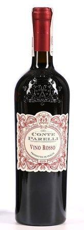 Wino Conte Parelli - Wino czerwone półwytrawne 0,75l - Włochy (237)