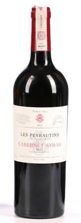 Wino Les Peyrautins Cabernet Syrah - Wino czerwone wytrawne 0,7l - Francja (245)