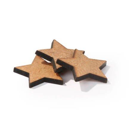Wycinane gwiazdki brązowe 3cm 3 szt.