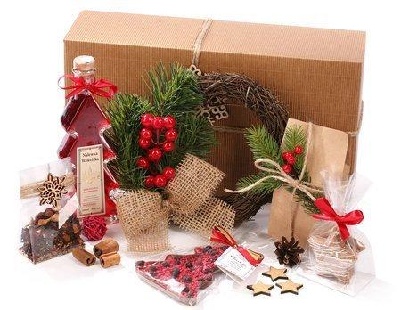 Zestaw ze świątecznym wiankiem faszynowym